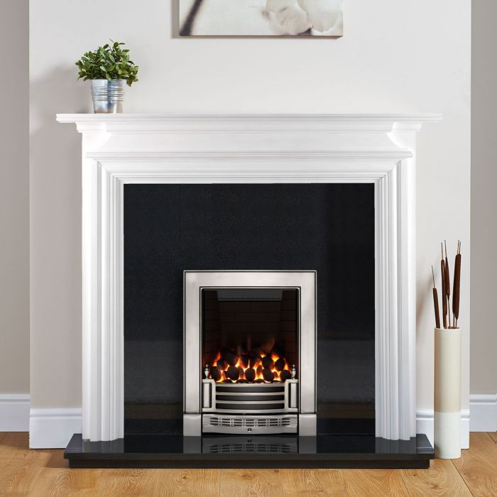Dawlish Fireplace Surround Painted White, How To Paint A Wooden Fire Surround