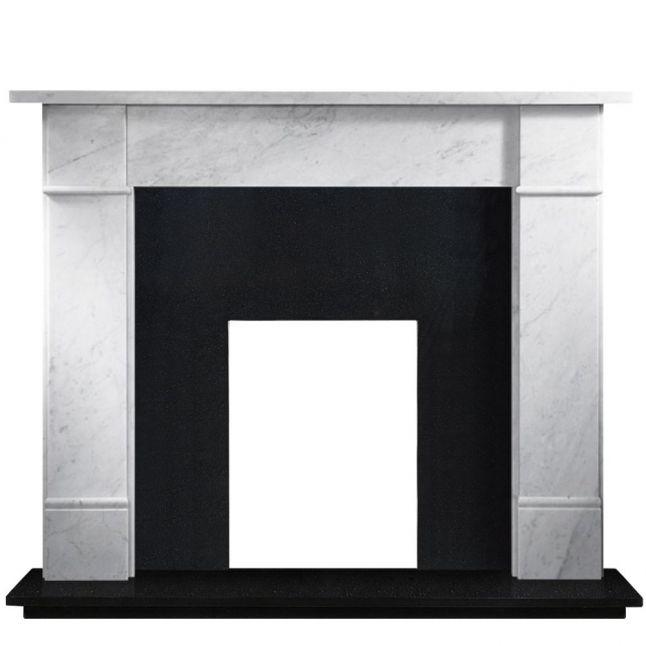 Austin Black Granite Polished Fireplace