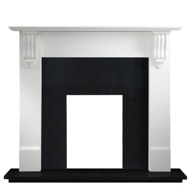 Bude Agean Limestone Fireplace