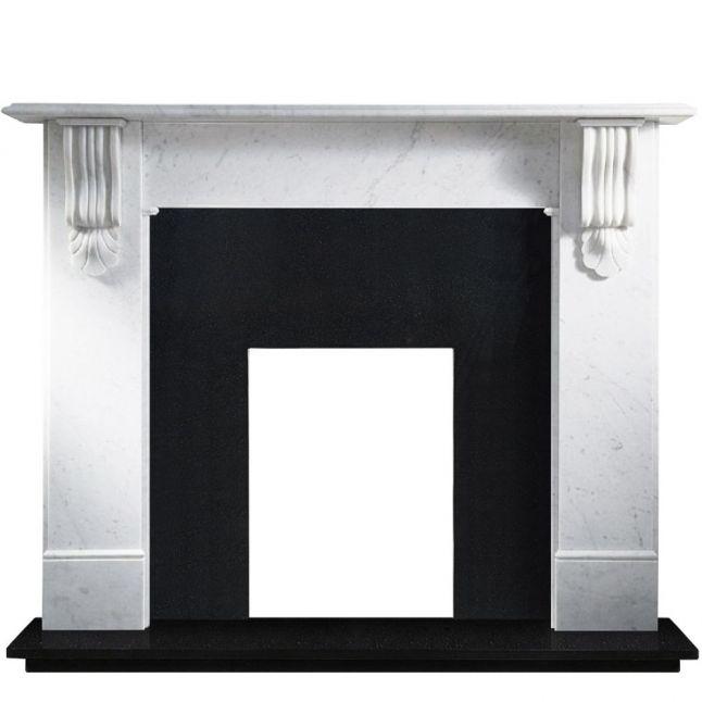 Bude Black Granite Polished Fireplace