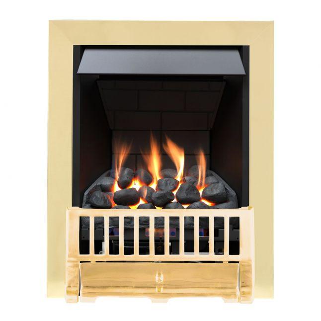 Chewton Farlam Brass Slimline Gas Fire