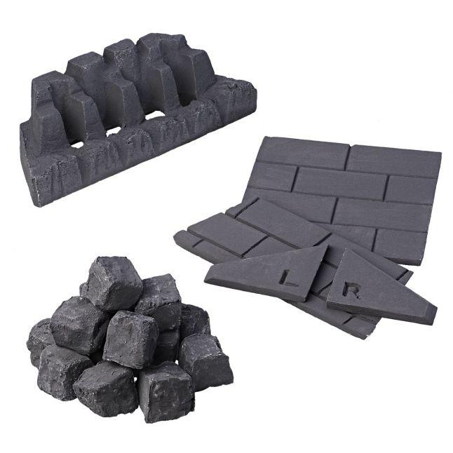 Slimline Coal Set - Square