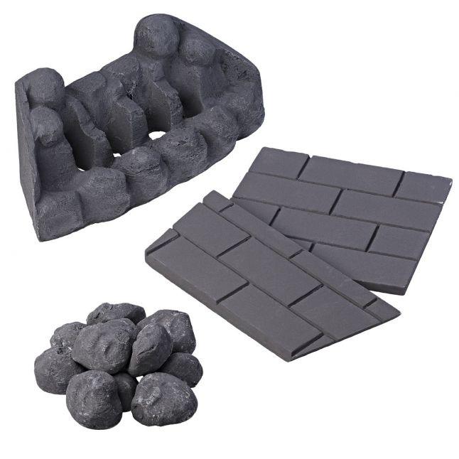 Slimline Coal Set - Moulded Chewton