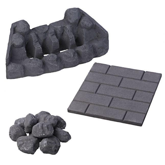 Slimline Coal Set - Moulded Asaba