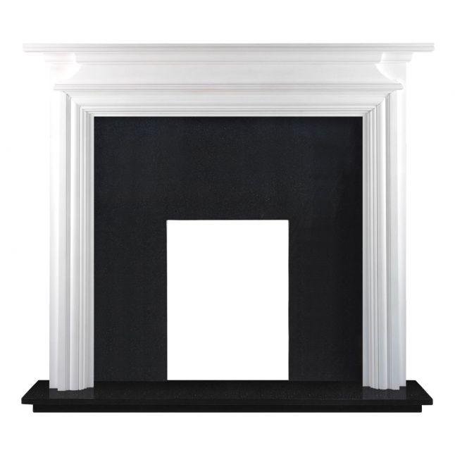 Dawlish Fireplace Painted White