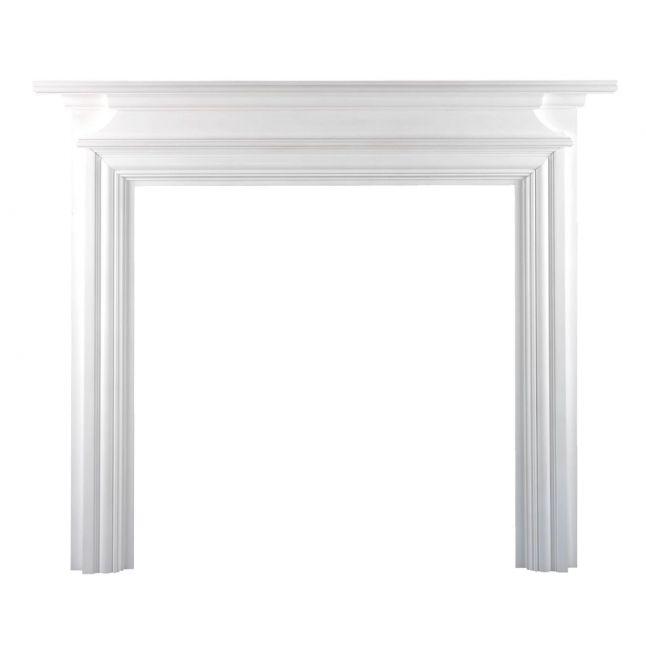 Dawlish Fireplace Surround Painted White