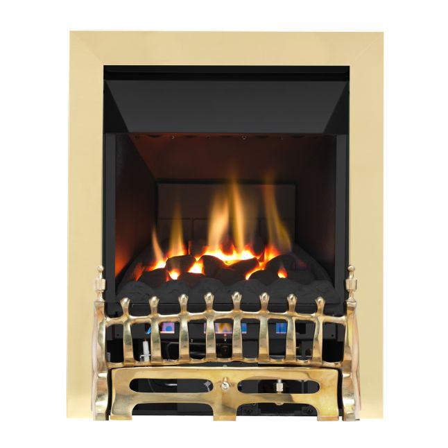 Grosvenor Blenheim Brass High Efficiency Gas Fire