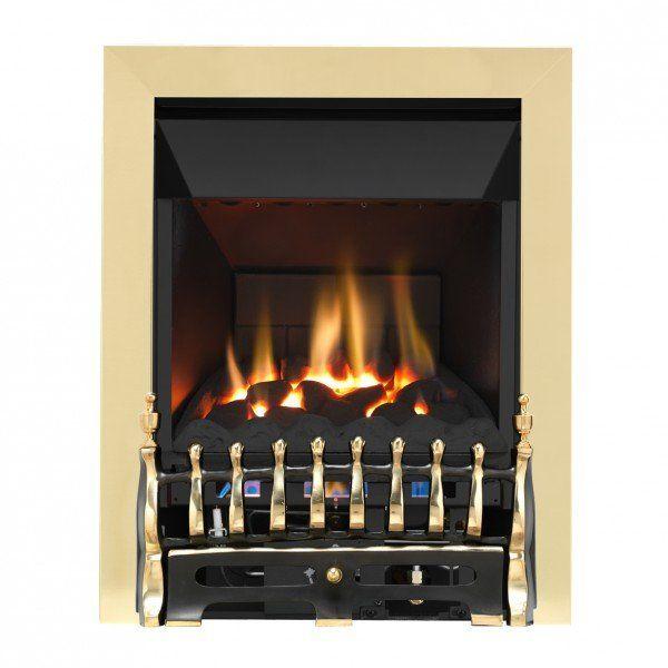 Grosvenor Blenheim Brass & Black High Efficiency Gas Fire