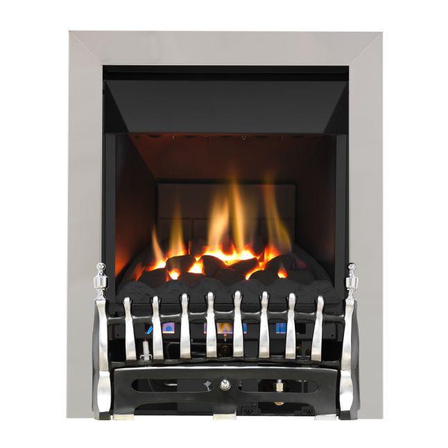 Grosvenor Blenheim Chrome & Black High Efficiency Gas Fire