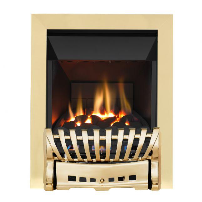 Grosvenor Elegance Brass High Efficiency Gas Fire
