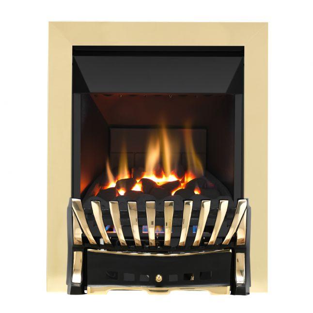 Grosvenor Elegance Brass & Black High Efficiency Gas Fire