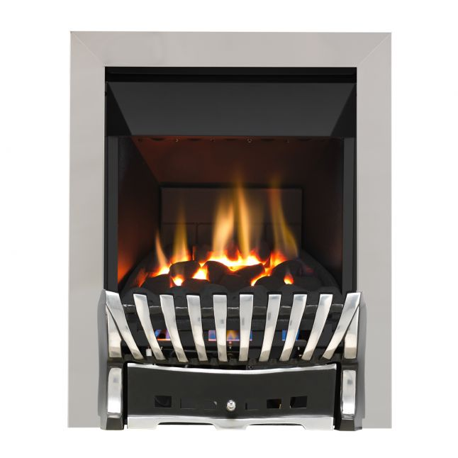 Grosvenor Elegance Chrome & Black High Efficiency Gas Fire