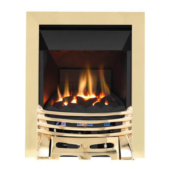 Grosvenor Elysee Brass High Efficiency Gas Fire