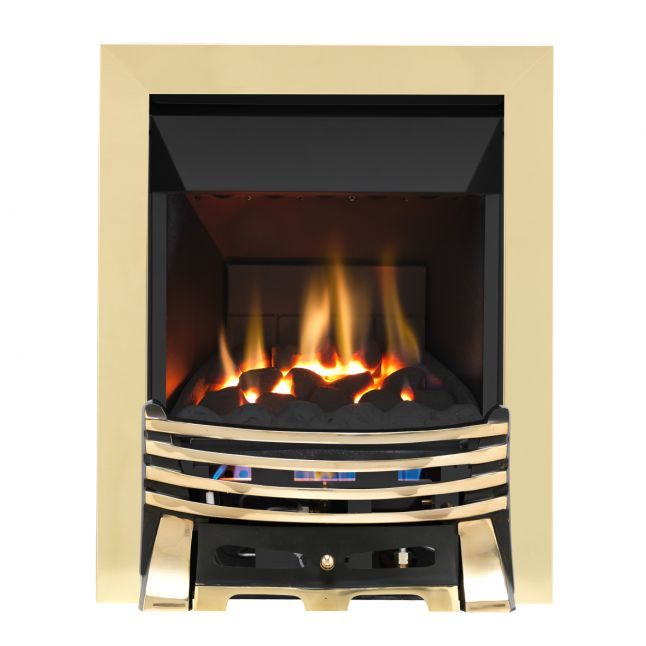 Grosvenor Elysee Brass & Black High Efficiency Gas Fire