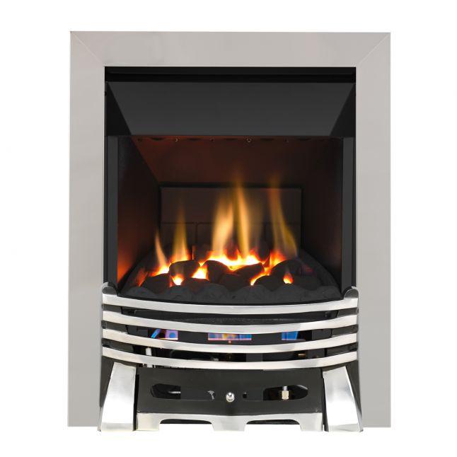 Grosvenor Elysee Chrome & Black High Efficiency Gas Fire