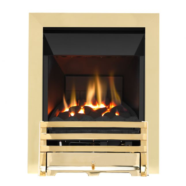 Grosvenor Grove Brass High Efficiency Gas Fire