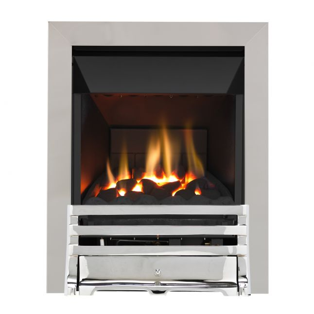 Grosvenor Grove Chrome High Efficiency Gas Fire