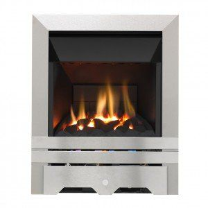 Grosvenor Kinloch Brushed Steel High Efficiency Gas Fire