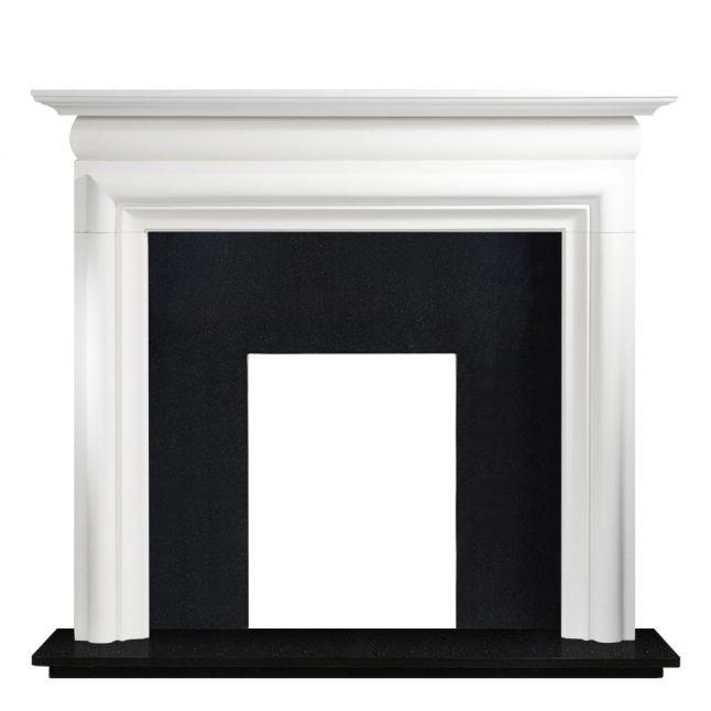 Mawgan High Agean Limestone Fireplace