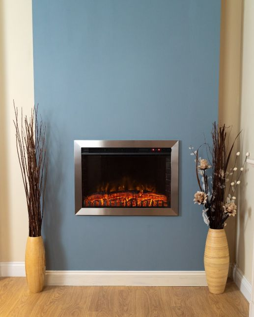 Medford Large Wall Inset LED Fire