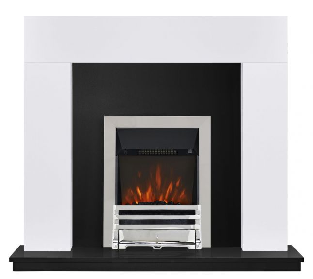 Sidmouth Grove Painted White Electric Fireplace Suite