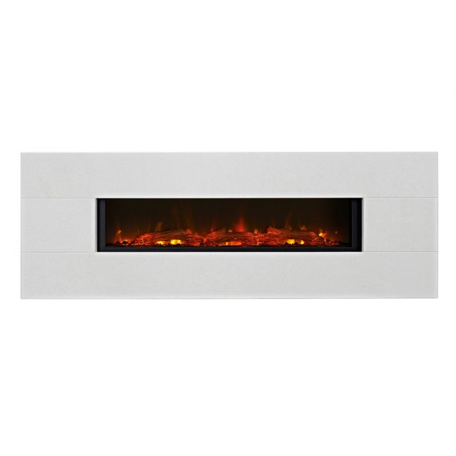 Grand Limestone LED Electric Fire