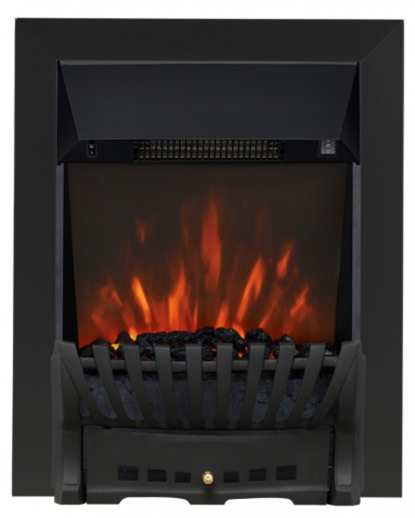 Clara elegance electric fire - black