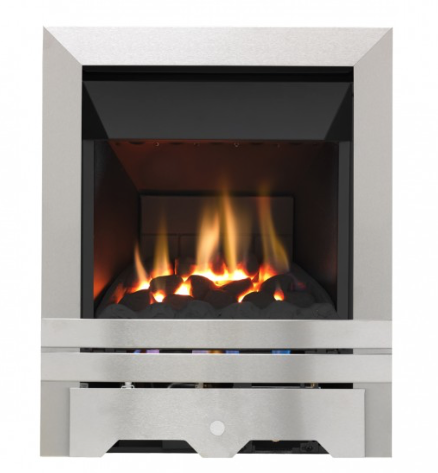 Grosvenor Kinloch High-Efficiency Gas Fire in silver