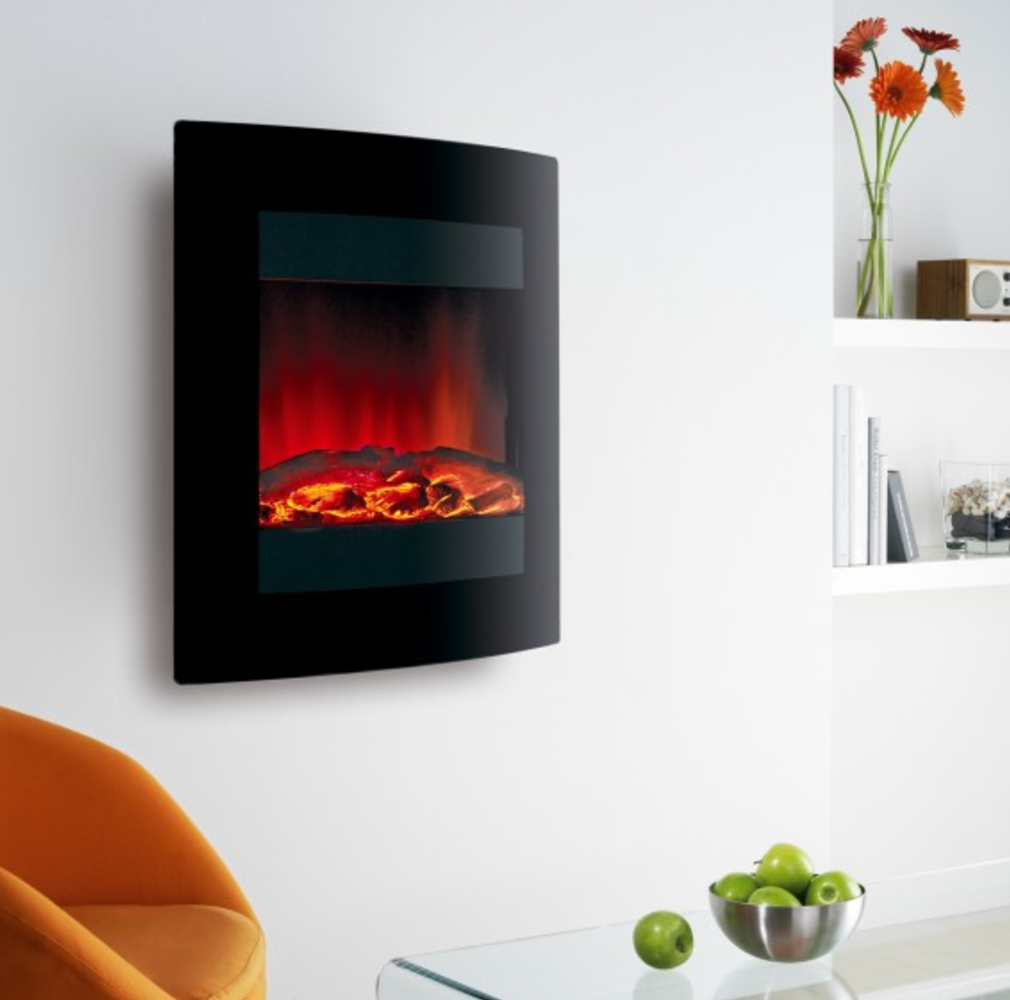 An electric fire can contribute to cosiness