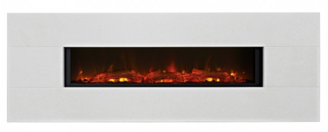 Grand Limestone LED electric fire